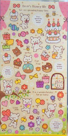 Bear's Honey Life Stickers
