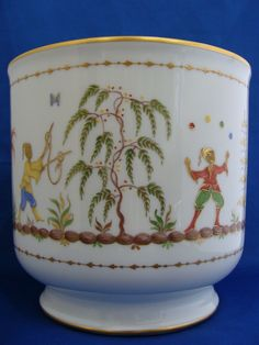 Tiffany & Co. signed Limoges Cirque Chinois Hand Painted Vase