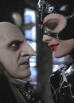 The prosthetic nose is the thing that drew me to this image. I didn't realise prosthetics were something button used a lot. I think this pointed nose adds a lot to his character. It makes him appear much more nosey. I like the side profile of both of these characters. It makes them look much more serious.