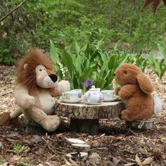 Lion invites Rabbit over for tea to apologize for his behavior the previous day. All is forgiven as they enjoy the beautiful day, the smell of the Lilly-of-the-Valleys, and the delicious tea.