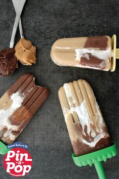 Chocolate & Peanut Butter Marshmallow Swirl Pops by See Mom Click