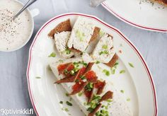 Haukiterriini Christmas Snacks, Kermit, Starters, Feta, Dairy, Cheese, Christmas Appetizers