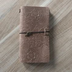 Leather Journal, Genuine Leather Notebook, Travel Book, Diary (fairy charm)