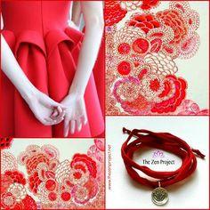 Fingers crossed for a great week ahead!  Featured below: *Japanese Pattern & The Zen Project Silk Bracelet Nr. AW001A Intense Lotus