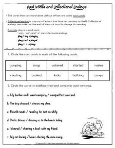 Time Signature Worksheets Excel Worksheet  Magic Time  Add Ed Or Ing To The Base Words  Worksheets For 4 Year Olds Word with Personification Worksheets Grade 5 Pdf Worksheet  Root Words And Inflectional Endings  Learn  Practice  Identifying Common Root Words And Solving Systems By Graphing Worksheet Pdf