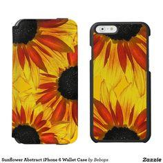 Sunflower Abstract iPhone 6 Wallet Case Incipio Watson™ iPhone 6 Wallet Case
