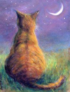 "Daily Paintworks - ""Star Light"" - Original Fine Art for Sale - © Mary Schiros"