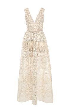 Guipure Lace V-Neck Maxi Dress - Elie Saab Resort 2016 - Preorder now on Moda Operandi
