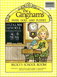 The Ginghams: Becky's School Room Paper Doll and Playset ; Susan Morris ; 1978