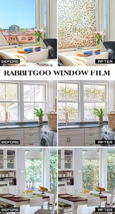 Rabbitgooing Rabbitgoo No Glue Static Privacy Window Film - Window clings for home privacy