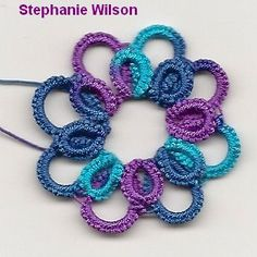 tatted hairclip by Stephanie Wilson Ankars style in progress