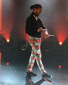 Migos' Offset Wears Fear Of God Pants and Christian Louboutin Studded Shoes | UpscaleHype