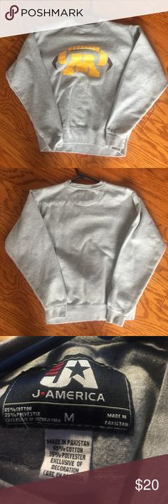 """Univ of MN Football Sweatshirt EUC - no rips or stains. 65% cotton, 35% polyester. 23"""" from shoulder to hem. Sleeves are 23"""" long. Smoke free home. Tops Sweatshirts & Hoodies"""