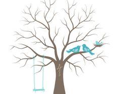 Bebé ducha huella digital árbol huésped libro por TJLovePrints