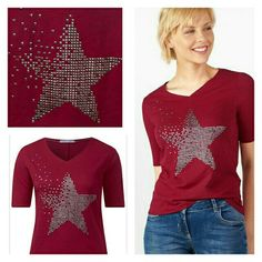 Cecil studded star t-shirt to go with my starry jeans. 45 year old mom Stylist - Photographer  1.58 m short  I lùuurf sales and colourful ❤ Capsule wardrobe : work - weekends - party / going out - funeral - dirty jobs - gym - days off - formal - gala. 80% basics - 10% high fashion - 10% statement pieces.  #guusje #colourful #fashionover40 #fashionover45 #colourfulcapsulewardrobe
