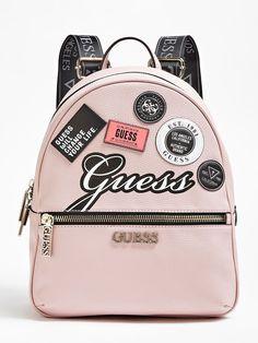 Cute Mini Backpacks, Stylish Backpacks, Girl Backpacks, Guess Purses, Guess Bags, Fashion Bags, Fashion Backpack, Punk Fashion, Fashion Dresses