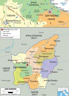 San Marino 2016 Maps of San Marino Pinterest Maps Europe and