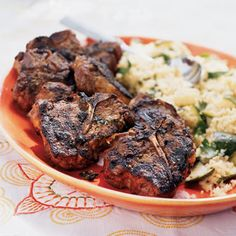 Cumin, Honey, and Mint-Marinated Lamb Chops | A traditional lamb and mint combination is taken to the next level with balsamic vinegar and honey. The natural sugar in the honey helps the chops caramelize on the grill.