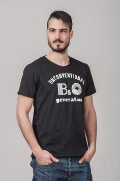 """Ανδρικό T shirt """"Unconventional generation"""" Black"""
