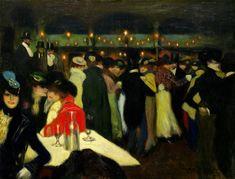 Le Moulin de la Galette by Pablo Picasso, 1900, Guggenheim Museum Size: 88.2x115.5 cm Medium: Oil on canvas Solomon R. Guggenheim Museum, New York Thannhauser Collection, Gift, Justin K. Thannhauser,...