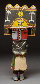American Indian Art:Kachina Dolls, A HOPI COTTONWOOD KACHINA DOLL. c. 1930...
