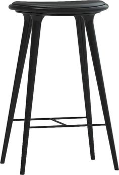 mater - Counter Stool Dark Stained White Oak - modern - bar stools and counter stools -