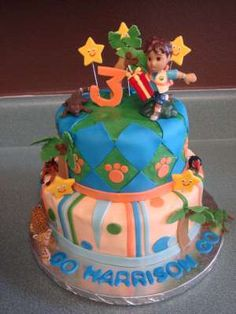 Fondant Cakes Go Diego Go Birthday Cakes Cake And Birthdays - Go diego go birthday cake