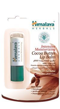 Intensive Moisturizing Cocoa Butter Lip Balm Prevents cracking, chapping and drying Free from petroleum, artificial colors and preservatives, Himalaya Herbals Intensive Moisturizing Cocoa Butter Lip Balm is a luxurious blend of Cocoa Butter, a rich natural source of Vitamin E and Sal Butter, a natural antioxidant. Apply liberally on lips to prevent cracking, chapping and drying, keeping your lips soft, supple and healthy. http://www.shopcost.in/himalaya+lip+balm