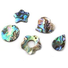 Assorted Pack Of Paua Shell Charms