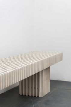 da6c362980a2 Max Lamb creates 12 benches from discarded textiles for Really installation  Bench Furniture