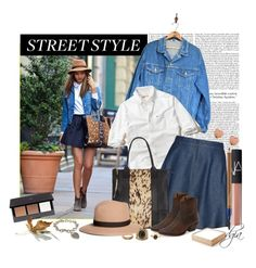 Denim skirt by dgia on Polyvore featuring Hollister Co., L.L.Bean, Studio, Frye, AllSaints, Charlotte Russe, Tiffany & Co., Ted Baker, Brooks Brothers and H&M