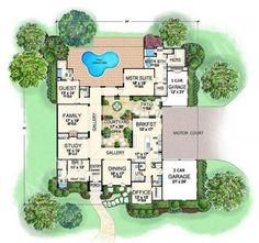 2 bedroom u shaped floor plans with courtyard | clutterus: a