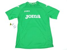 f766fe3b337 Joma Mens Athletic Soccer Jersey Green Short Sleeve Logo T-Shirt Size Medium  #Joma