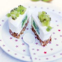 Cheesecake au cœur coulant de kiwi
