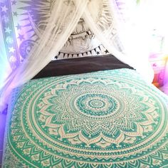 Tapestry Indian Mandala Tapestry Ombre Hippie Tapestry Wall Hanging Bedspread Bo #Handmade #BedspreadTapestry