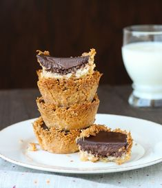 These Vegan Dark Chocolate Coconut Pies are a rich combination of goodness for any dessert lover.