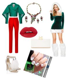 """""""Naughty or nice"""" by boiicosmetics on Polyvore featuring Antonio Berardi, Mauboussin, Jimmy Choo, Ted Baker, Preen and Christmas"""