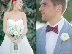 I like both of these shots (for a bouquet and matching bout)