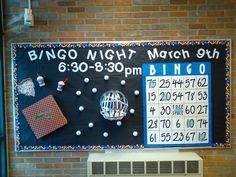 pta bulletin board ideas events * pta bulletin board ideas - pta bulletin board ideas winter - pta bulletin board ideas welcome back - pta bulletin board ideas open house - pta bulletin board ideas parents - pta bulletin board ideas events Pta School, School Fundraisers, Bingo Party, Party Flyer, Bingo Night, Game Night, Family Fun Night, Board Ideas, Open House