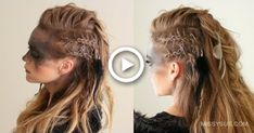 Viking Hairstyles for Women and Men – Inspirations and Tutorials – Ne … - Best New Hair Styles Fancy Braids, Braids For Short Hair, Missy Sue Hair, Lagertha Hair, Lagertha Costume, Vikings Lagertha, Warrior Braid, Historical Hairstyles, Viking Braids