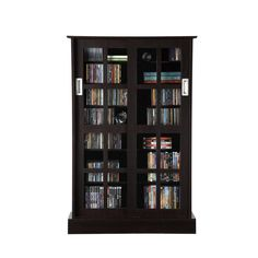 Everett Espresso Large Deluxe CD/ DVD Media Storage | Things To Buy |  Pinterest | Media Storage, Espresso And Storage