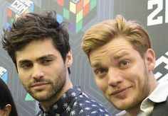 Matt Daddario & Dom Sherwood are actually Jace and Alec in real life.