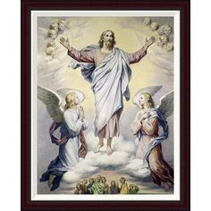"""Global Gallery Ascension, The Hoffman by Heinrich Hofmann Framed Painting Print Size: 34"""" H x 27.13"""" W"""
