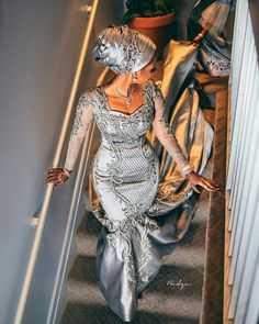 Hauwa Indimi and Mohammed Yar'adua Magnificent Wedding ~ My Afro Caribbean Wedding Nigeria African Wedding Attire, African Attire, African Fashion Dresses, African Dress, Nigerian Fashion, African Clothes, African Lace, Nigerian Wedding Dresses Traditional, Traditional Wedding Attire