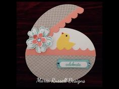 video tutorial Craft Series - Easter Egg Card - Stampin' Up! ... cute use of bird punch ... You Tube