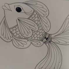 #coloringbook for #thevalleyschool Mela. #fish by #meowwsart #indian_artist #indianfolkart #indianfolkart #madhubaniart #madhubanistyle How does drawing make me feel so much better? #artwork #reducestress