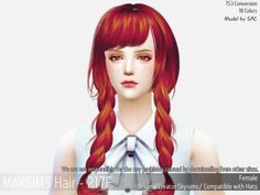 Hair 217F (Skysims) at May Sims • Sims 4 Updates