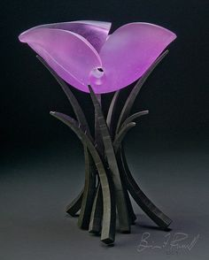 """Brian Russell, Artist, Hemisphere  Chippendale, glass and iron, 21""""H x 6""""W x 13""""D #PurelyInspiration"""