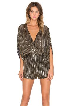 Shop for Parker Kimora Sequin Romper in Antique Gold at REVOLVE. Free day shipping and returns, 30 day price match guarantee. Party Outfit Night Club, Night Outfits, Casual Outfits, Fashion Outfits, Studio 54 Fashion, Mode Shorts, Gold Sequin Shorts, Streetwear, Fiesta Outfit