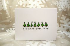 Season's Greetings Christmas Card Set by ThePaperMenagerie on Etsy